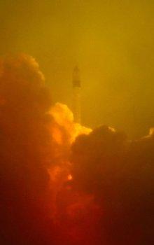 Rokot rocket with Proba-2 a SMOS satellites.
