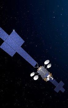 Ilustrační znázornění platformy Spacebus Neo založené na návrhu Thales Alenia Space.