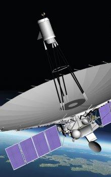 Ruský radiový teleskop Spektr-R, který na své palubě nese i český detektor kosmického záření BMSW.