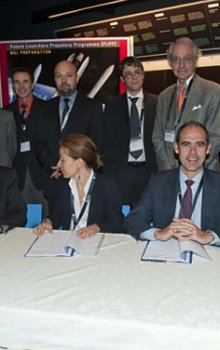 Signing of the contract of the first project for the development of technologies for the launchers of the next generation.