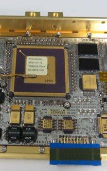 Detail elektroniky letového modulu IDEE-A (nadir).