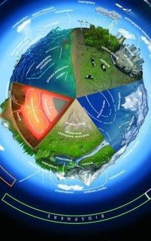 Ilustrace zemských sfér.