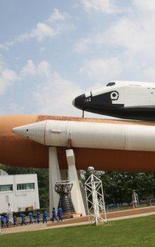 Americký raketoplán v USSRC.