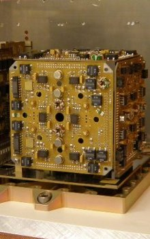 Microaccelerometer testing in vacuum room.