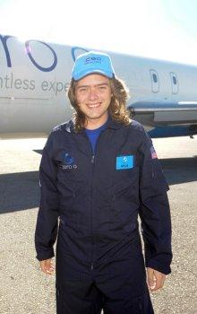Stanislav Fořt u letadla Zero-G